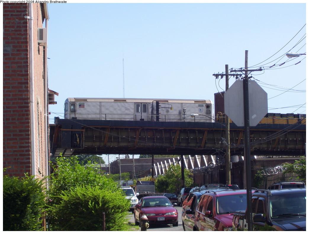 (230k, 1044x791)<br><b>Country:</b> United States<br><b>City:</b> New York<br><b>System:</b> New York City Transit<br><b>Location:</b> 239th Street Yard<br><b>Route:</b> Work Service<br><b>Car:</b> R-127/R-134 (Kawasaki, 1991-1996) EP002 <br><b>Photo by:</b> Aliandro Brathwaite<br><b>Date:</b> 7/25/2008<br><b>Viewed (this week/total):</b> 3 / 2545