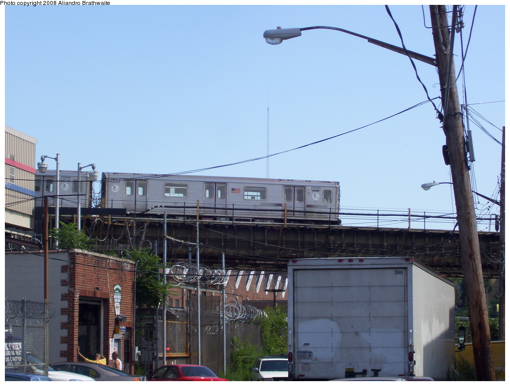 (205k, 1044x791)<br><b>Country:</b> United States<br><b>City:</b> New York<br><b>System:</b> New York City Transit<br><b>Location:</b> 239th Street Yard<br><b>Car:</b> R-142 (Primary Order, Bombardier, 1999-2002)  6325 <br><b>Photo by:</b> Aliandro Brathwaite<br><b>Date:</b> 7/25/2008<br><b>Viewed (this week/total):</b> 2 / 2681