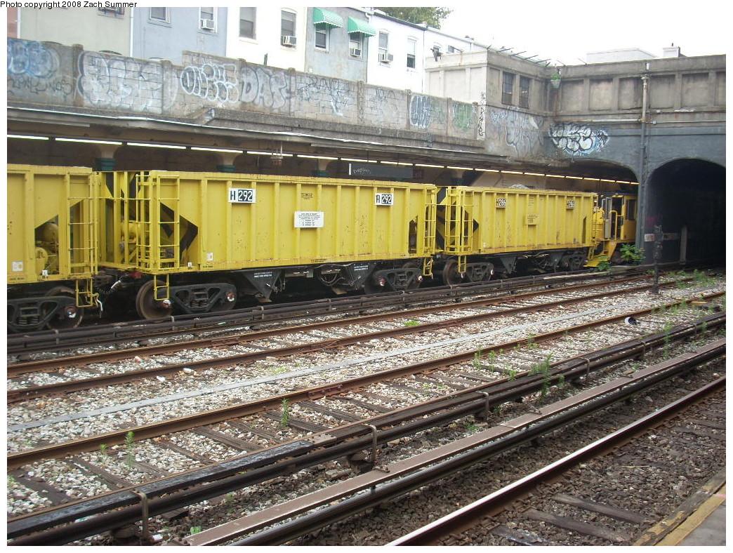 (366k, 1044x788)<br><b>Country:</b> United States<br><b>City:</b> New York<br><b>System:</b> New York City Transit<br><b>Line:</b> BMT Sea Beach Line<br><b>Location:</b> 86th Street <br><b>Route:</b> Work Service<br><b>Car:</b> R-80 MoW Hopper (1983, Maxon)  292 <br><b>Photo by:</b> Zach Summer<br><b>Date:</b> 7/6/2008<br><b>Viewed (this week/total):</b> 2 / 1144
