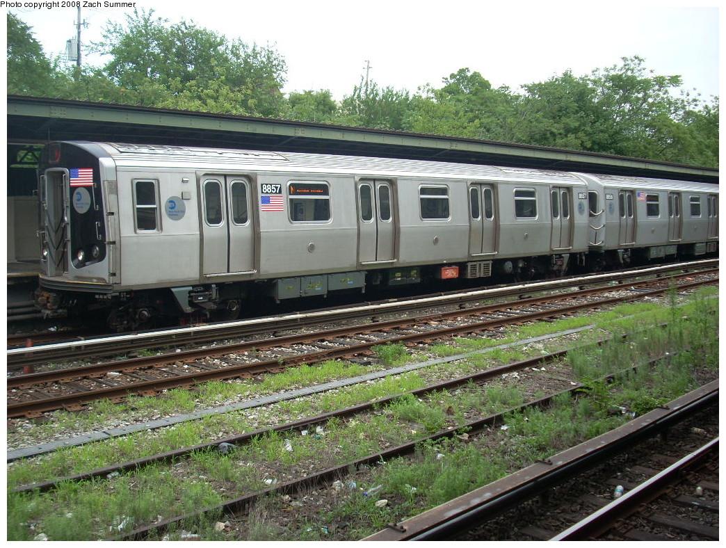 (344k, 1044x788)<br><b>Country:</b> United States<br><b>City:</b> New York<br><b>System:</b> New York City Transit<br><b>Line:</b> BMT Sea Beach Line<br><b>Location:</b> Fort Hamilton Parkway <br><b>Route:</b> N<br><b>Car:</b> R-160B (Kawasaki, 2005-2008)  8857 <br><b>Photo by:</b> Zach Summer<br><b>Date:</b> 7/9/2008<br><b>Viewed (this week/total):</b> 0 / 1549