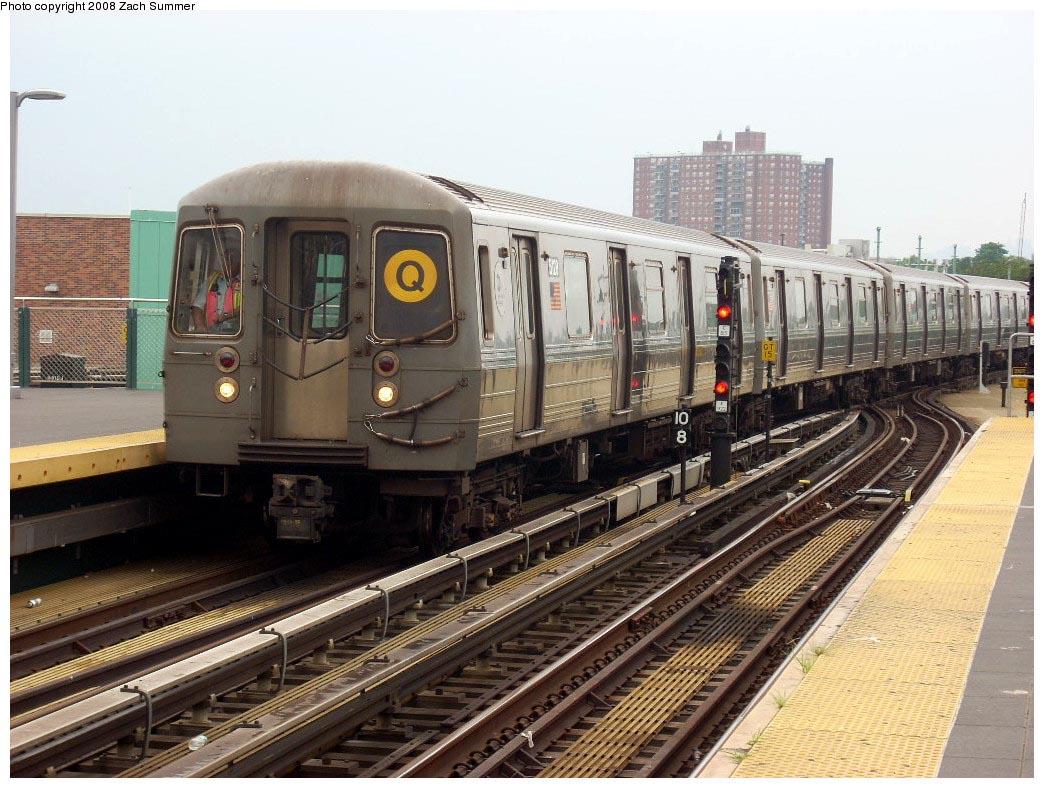 (197k, 1044x788)<br><b>Country:</b> United States<br><b>City:</b> New York<br><b>System:</b> New York City Transit<br><b>Location:</b> Coney Island/Stillwell Avenue<br><b>Route:</b> Q<br><b>Car:</b> R-68A (Kawasaki, 1988-1989)  5128 <br><b>Photo by:</b> Zach Summer<br><b>Date:</b> 7/9/2008<br><b>Viewed (this week/total):</b> 0 / 1345