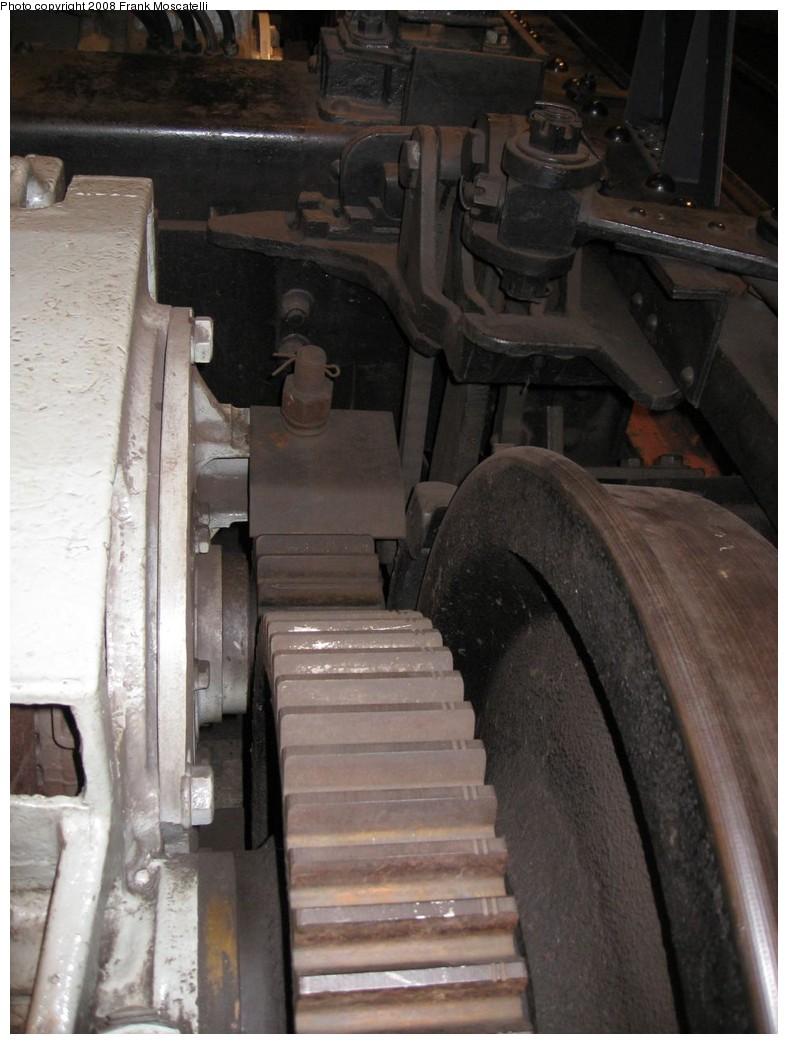 (172k, 788x1044)<br><b>Country:</b> United States<br><b>City:</b> New York<br><b>System:</b> New York City Transit<br><b>Location:</b> New York Transit Museum<br><b>Photo by:</b> Frank Moscatelli<br><b>Date:</b> 10/24/2007<br><b>Notes:</b> R1/9 truck display. Pinion gears.<br><b>Viewed (this week/total):</b> 2 / 1631