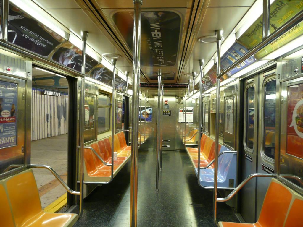 (149k, 1024x768)<br><b>Country:</b> United States<br><b>City:</b> New York<br><b>System:</b> New York City Transit<br><b>Route:</b> 3<br><b>Car:</b> R-62A (Bombardier, 1984-1987)  2415 <br><b>Photo by:</b> Robbie Rosenfeld<br><b>Date:</b> 7/21/2008<br><b>Notes:</b> Note blue seats.<br><b>Viewed (this week/total):</b> 1 / 1354