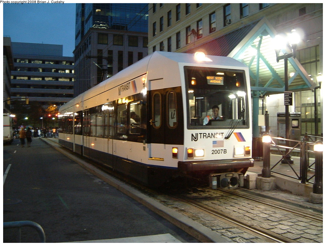 (229k, 1044x788)<br><b>Country:</b> United States<br><b>City:</b> Jersey City, NJ<br><b>System:</b> Hudson Bergen Light Rail<br><b>Location:</b> Exchange Place <br><b>Car:</b> NJT-HBLR LRV (Kinki-Sharyo, 1998-99)  2007 <br><b>Photo by:</b> Brian J. Cudahy<br><b>Date:</b> 2008<br><b>Viewed (this week/total):</b> 0 / 746