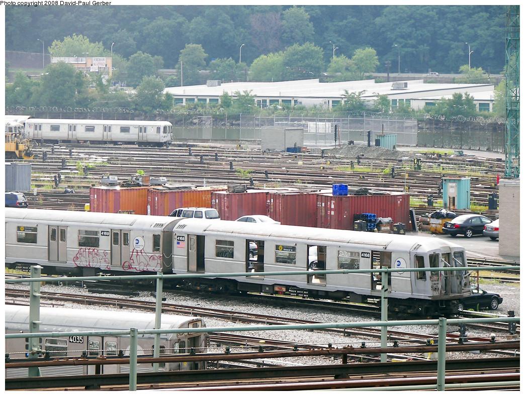 (380k, 1044x788)<br><b>Country:</b> United States<br><b>City:</b> New York<br><b>System:</b> New York City Transit<br><b>Location:</b> 207th Street Yard<br><b>Car:</b> R-40 (St. Louis, 1968)  4168 <br><b>Photo by:</b> David-Paul Gerber<br><b>Date:</b> 8/2/2008<br><b>Viewed (this week/total):</b> 0 / 1300