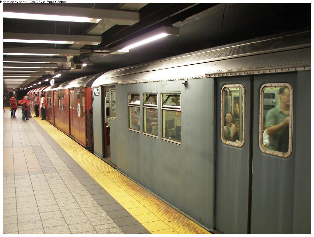 (265k, 1044x788)<br><b>Country:</b> United States<br><b>City:</b> New York<br><b>System:</b> New York City Transit<br><b>Line:</b> IRT Times Square-Grand Central Shuttle<br><b>Location:</b> Grand Central <br><b>Route:</b> Transit Museum Nostalgia Train<br><b>Car:</b> R-33 Main Line (St. Louis, 1962-63) 9068 <br><b>Photo by:</b> David-Paul Gerber<br><b>Date:</b> 8/2/2008<br><b>Viewed (this week/total):</b> 0 / 1500