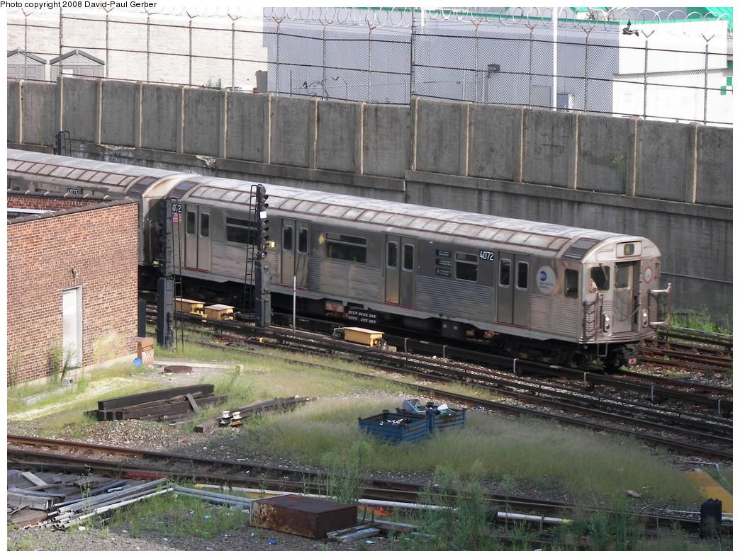 (348k, 1044x788)<br><b>Country:</b> United States<br><b>City:</b> New York<br><b>System:</b> New York City Transit<br><b>Location:</b> 207th Street Yard<br><b>Car:</b> R-38 (St. Louis, 1966-1967)  4072 <br><b>Photo by:</b> David-Paul Gerber<br><b>Date:</b> 8/2/2008<br><b>Viewed (this week/total):</b> 0 / 1710