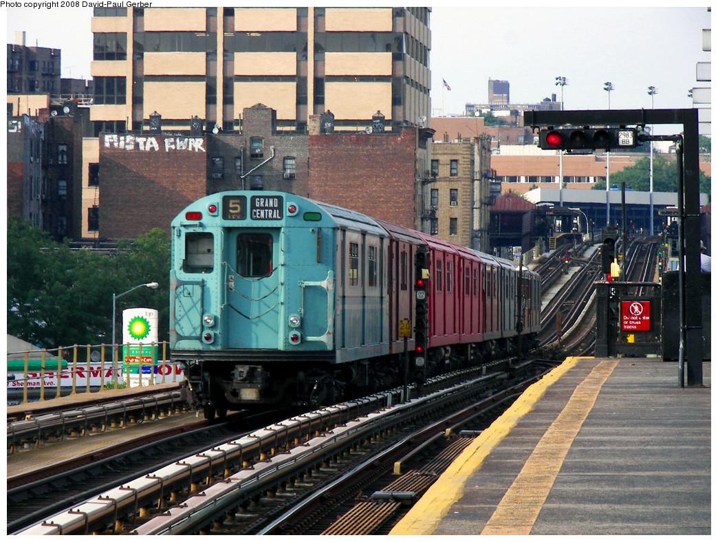 (355k, 1044x788)<br><b>Country:</b> United States<br><b>City:</b> New York<br><b>System:</b> New York City Transit<br><b>Line:</b> IRT West Side Line<br><b>Location:</b> 207th Street <br><b>Route:</b> Transit Museum Nostalgia Train<br><b>Car:</b> R-33 World's Fair (St. Louis, 1963-64) 9306 <br><b>Photo by:</b> David-Paul Gerber<br><b>Date:</b> 8/2/2008<br><b>Viewed (this week/total):</b> 2 / 1670