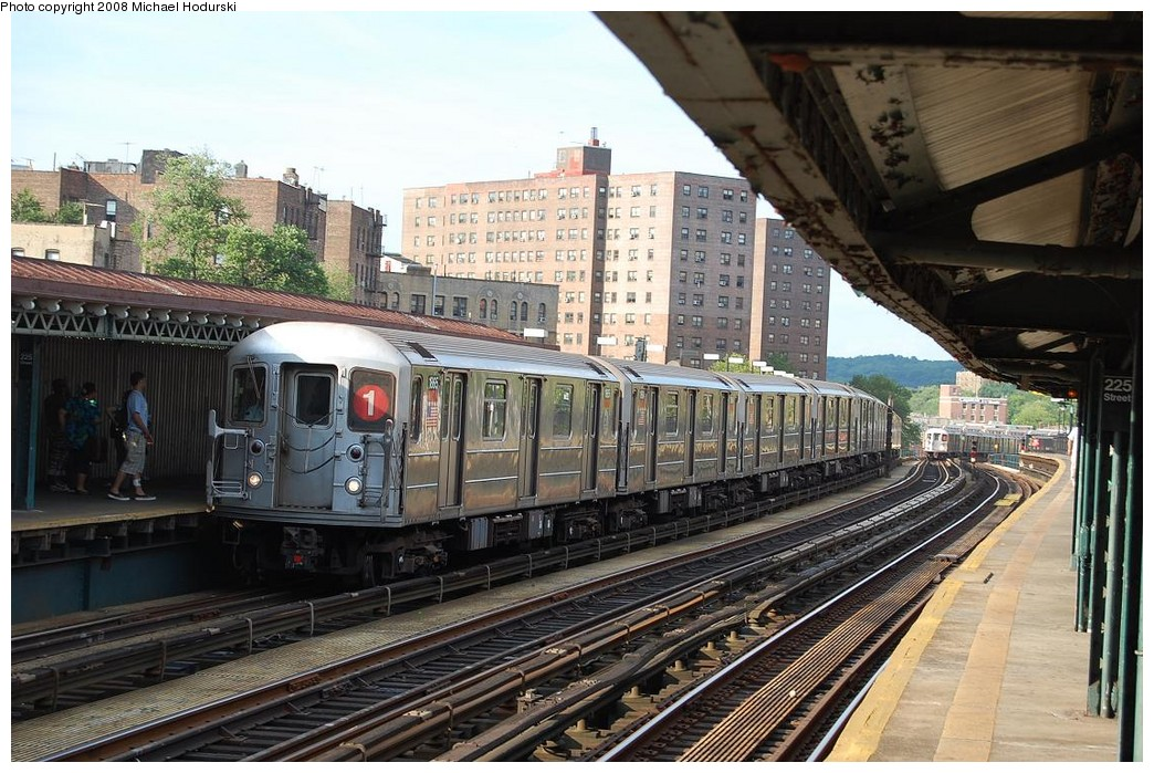 (266k, 1044x699)<br><b>Country:</b> United States<br><b>City:</b> New York<br><b>System:</b> New York City Transit<br><b>Line:</b> IRT West Side Line<br><b>Location:</b> 225th Street <br><b>Route:</b> 1<br><b>Car:</b> R-62A (Bombardier, 1984-1987)  1865 <br><b>Photo by:</b> Michael Hodurski<br><b>Date:</b> 6/24/2008<br><b>Viewed (this week/total):</b> 0 / 1459