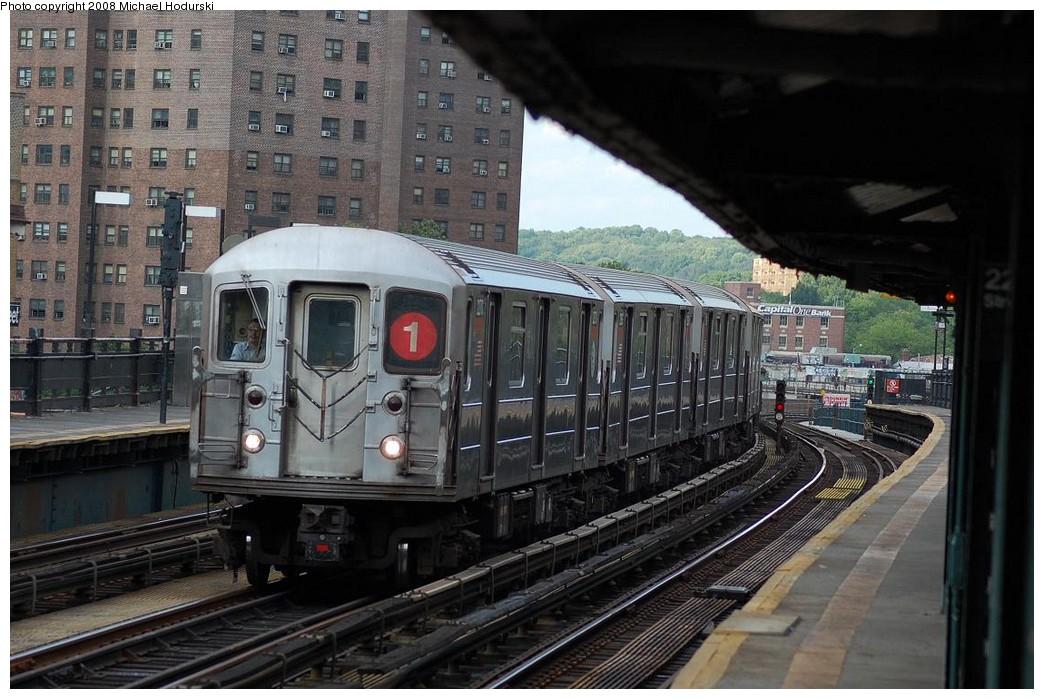 (238k, 1044x699)<br><b>Country:</b> United States<br><b>City:</b> New York<br><b>System:</b> New York City Transit<br><b>Line:</b> IRT West Side Line<br><b>Location:</b> 225th Street <br><b>Route:</b> 1<br><b>Car:</b> R-62A (Bombardier, 1984-1987)  2270 <br><b>Photo by:</b> Michael Hodurski<br><b>Date:</b> 6/24/2008<br><b>Viewed (this week/total):</b> 1 / 1449