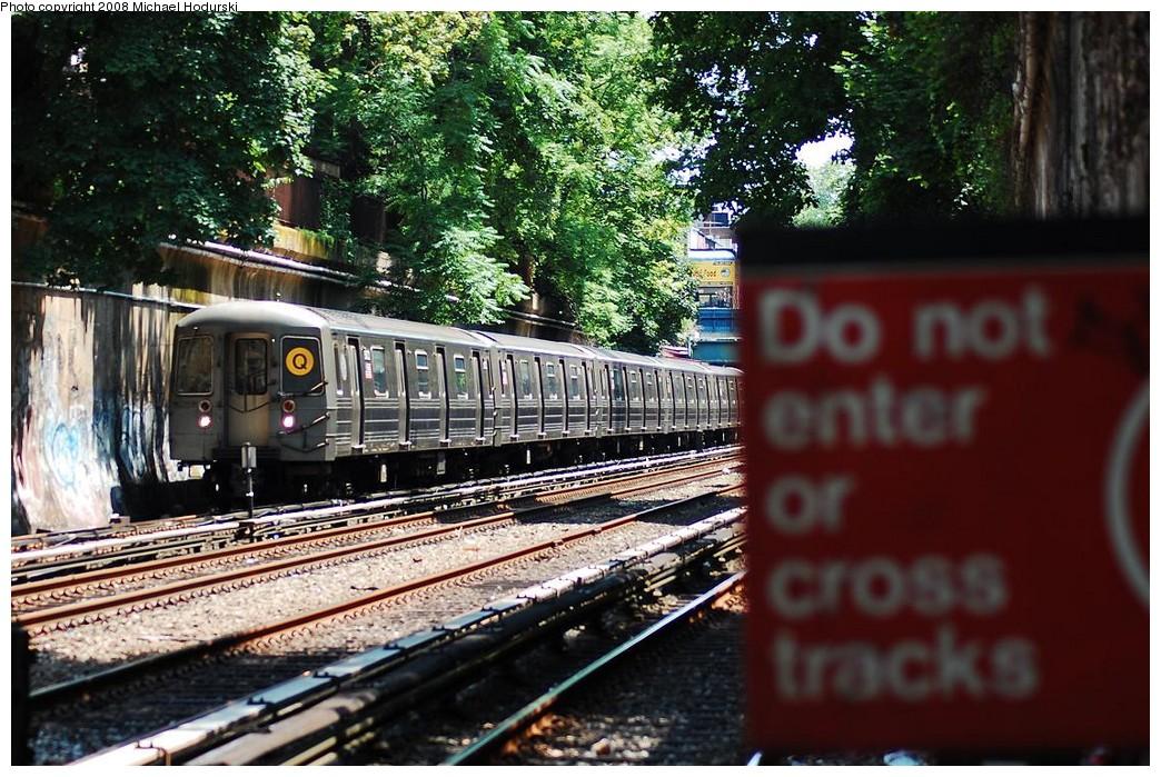 (290k, 1044x699)<br><b>Country:</b> United States<br><b>City:</b> New York<br><b>System:</b> New York City Transit<br><b>Line:</b> BMT Brighton Line<br><b>Location:</b> Cortelyou Road <br><b>Route:</b> Q<br><b>Car:</b> R-68A (Kawasaki, 1988-1989)  5072 <br><b>Photo by:</b> Michael Hodurski<br><b>Date:</b> 6/24/2008<br><b>Viewed (this week/total):</b> 0 / 1581