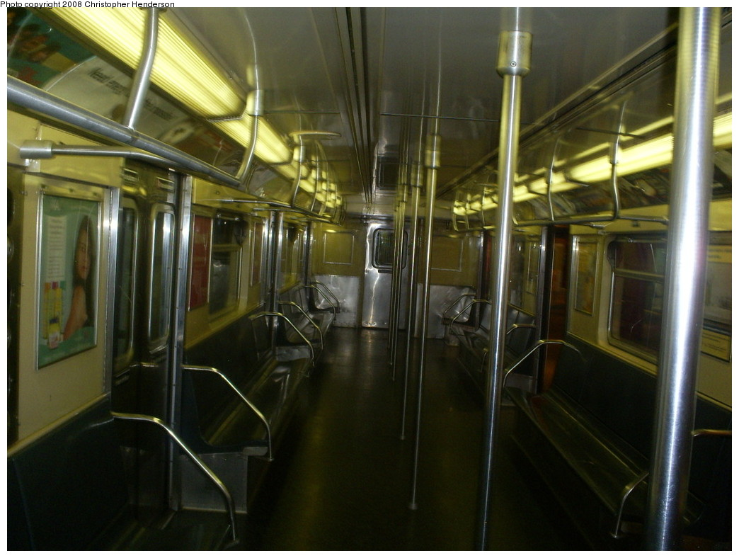 (238k, 1044x788)<br><b>Country:</b> United States<br><b>City:</b> New York<br><b>System:</b> New York City Transit<br><b>Location:</b> New York Transit Museum<br><b>Car:</b> R-32 (Budd, 1964)  3353 <br><b>Photo by:</b> Christopher Henderson<br><b>Date:</b> 7/9/2008<br><b>Notes:</b> R32 3353 on display at Transit Museum.<br><b>Viewed (this week/total):</b> 0 / 7660