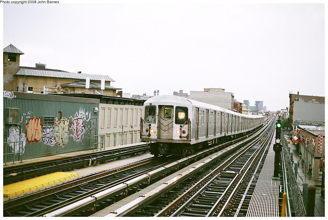 (269k, 1044x699)<br><b>Country:</b> United States<br><b>City:</b> New York<br><b>System:</b> New York City Transit<br><b>Line:</b> BMT Nassau Street/Jamaica Line<br><b>Location:</b> Gates Avenue <br><b>Route:</b> J<br><b>Car:</b> R-42 (St. Louis, 1969-1970)  4716 <br><b>Photo by:</b> John Barnes<br><b>Date:</b> 7/27/2008<br><b>Viewed (this week/total):</b> 0 / 1828