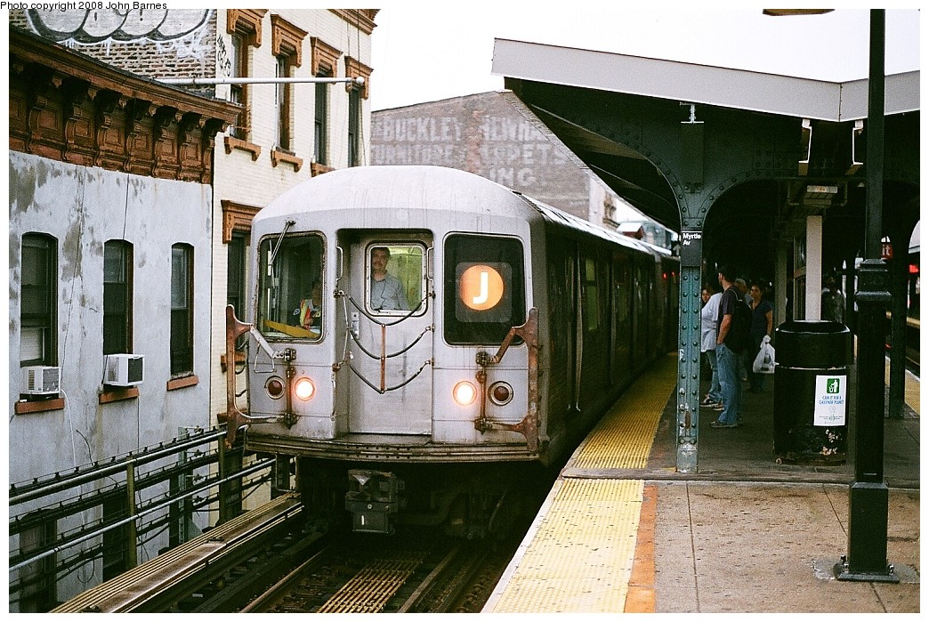 (292k, 1044x699)<br><b>Country:</b> United States<br><b>City:</b> New York<br><b>System:</b> New York City Transit<br><b>Line:</b> BMT Nassau Street/Jamaica Line<br><b>Location:</b> Myrtle Avenue <br><b>Route:</b> J<br><b>Car:</b> R-42 (St. Louis, 1969-1970)  4702 <br><b>Photo by:</b> John Barnes<br><b>Date:</b> 7/27/2008<br><b>Viewed (this week/total):</b> 0 / 1382