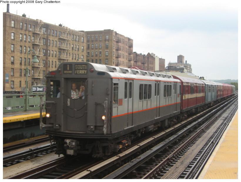 (127k, 820x620)<br><b>Country:</b> United States<br><b>City:</b> New York<br><b>System:</b> New York City Transit<br><b>Line:</b> IRT West Side Line<br><b>Location:</b> 231st Street <br><b>Route:</b> Transit Museum Nostalgia Train<br><b>Car:</b> R-12 (American Car & Foundry, 1948) 5760 <br><b>Photo by:</b> Gary Chatterton<br><b>Date:</b> 8/2/2008<br><b>Viewed (this week/total):</b> 2 / 1619