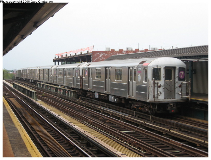 (137k, 820x620)<br><b>Country:</b> United States<br><b>City:</b> New York<br><b>System:</b> New York City Transit<br><b>Line:</b> IRT Flushing Line<br><b>Location:</b> 52nd Street/Lincoln Avenue <br><b>Route:</b> 7<br><b>Car:</b> R-62A (Bombardier, 1984-1987)  1791 <br><b>Photo by:</b> Gary Chatterton<br><b>Date:</b> 8/2/2008<br><b>Viewed (this week/total):</b> 0 / 1174