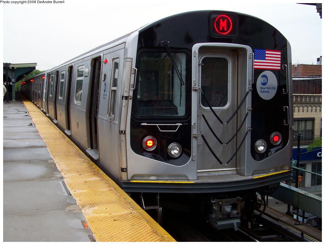 (284k, 1044x788)<br><b>Country:</b> United States<br><b>City:</b> New York<br><b>System:</b> New York City Transit<br><b>Line:</b> BMT Myrtle Avenue Line<br><b>Location:</b> Fresh Pond Road <br><b>Route:</b> M<br><b>Car:</b> R-160A-1 (Alstom, 2005-2008, 4 car sets)  8392 <br><b>Photo by:</b> DeAndre Burrell<br><b>Date:</b> 5/19/2008<br><b>Viewed (this week/total):</b> 1 / 1802