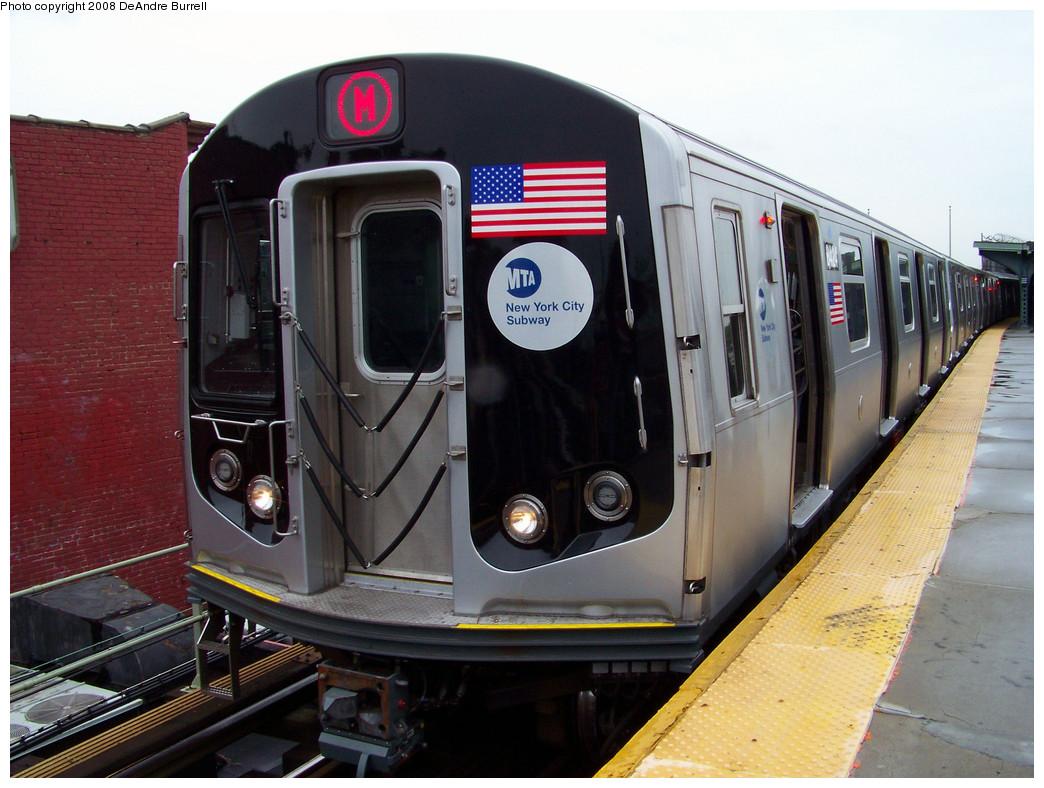 (288k, 1044x788)<br><b>Country:</b> United States<br><b>City:</b> New York<br><b>System:</b> New York City Transit<br><b>Line:</b> BMT Myrtle Avenue Line<br><b>Location:</b> Fresh Pond Road <br><b>Route:</b> M<br><b>Car:</b> R-160A-1 (Alstom, 2005-2008, 4 car sets)  8424 <br><b>Photo by:</b> DeAndre Burrell<br><b>Date:</b> 5/19/2008<br><b>Viewed (this week/total):</b> 0 / 2519