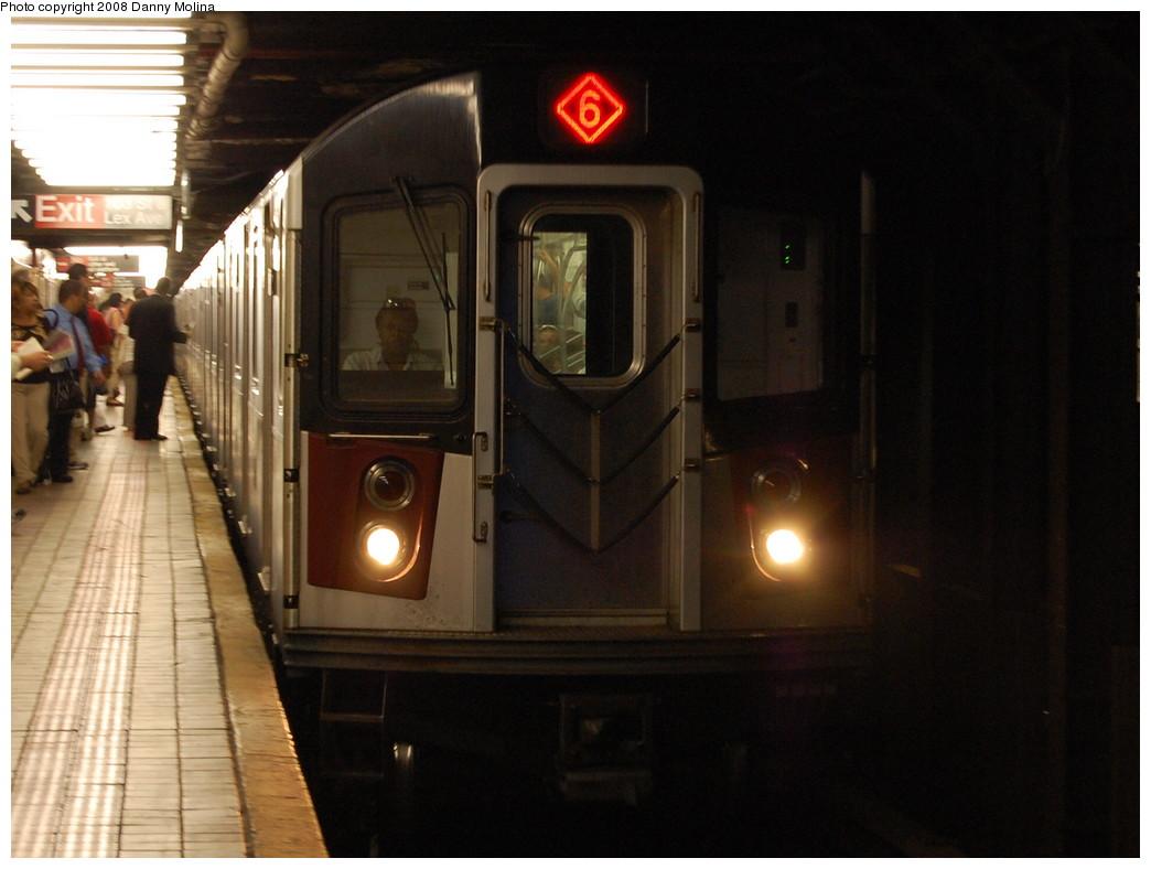 (227k, 1044x788)<br><b>Country:</b> United States<br><b>City:</b> New York<br><b>System:</b> New York City Transit<br><b>Line:</b> IRT East Side Line<br><b>Location:</b> 103rd Street <br><b>Route:</b> 6<br><b>Car:</b> R-142 or R-142A (Number Unknown)  <br><b>Photo by:</b> Danny Molina<br><b>Date:</b> 7/29/2008<br><b>Viewed (this week/total):</b> 0 / 2907