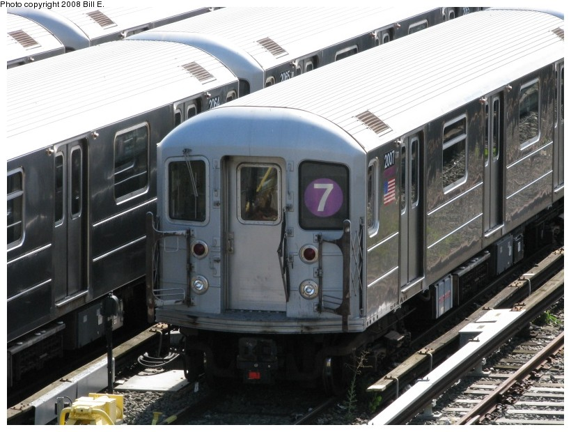 (150k, 820x620)<br><b>Country:</b> United States<br><b>City:</b> New York<br><b>System:</b> New York City Transit<br><b>Location:</b> Corona Yard<br><b>Car:</b> R-62A (Bombardier, 1984-1987)  2007 <br><b>Photo by:</b> Bill E.<br><b>Date:</b> 8/3/2008<br><b>Viewed (this week/total):</b> 1 / 907