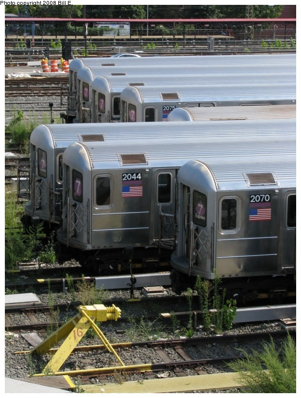 (178k, 620x820)<br><b>Country:</b> United States<br><b>City:</b> New York<br><b>System:</b> New York City Transit<br><b>Location:</b> Corona Yard<br><b>Car:</b> R-62A (Bombardier, 1984-1987)  2070/2044 <br><b>Photo by:</b> Bill E.<br><b>Date:</b> 8/3/2008<br><b>Viewed (this week/total):</b> 1 / 1174