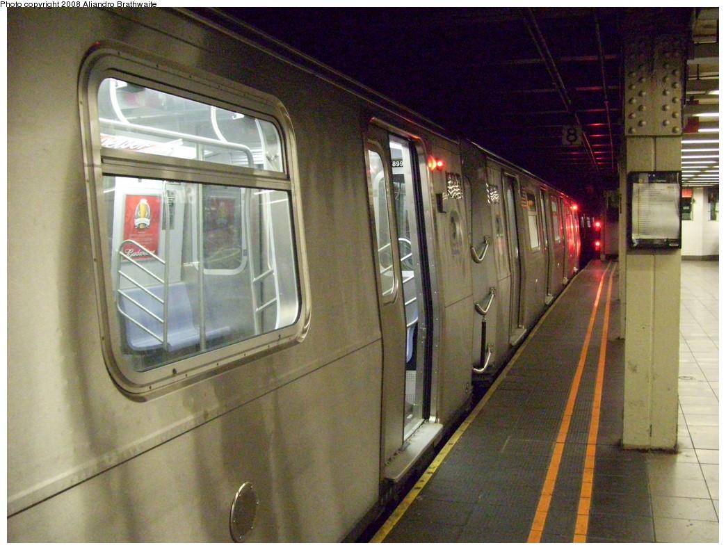 (253k, 1044x791)<br><b>Country:</b> United States<br><b>City:</b> New York<br><b>System:</b> New York City Transit<br><b>Line:</b> BMT Broadway Line<br><b>Location:</b> 57th Street <br><b>Route:</b> Q<br><b>Car:</b> R-160B (Option 1) (Kawasaki, 2008-2009)  8991 <br><b>Photo by:</b> Aliandro Brathwaite<br><b>Date:</b> 8/1/2008<br><b>Viewed (this week/total):</b> 2 / 2682