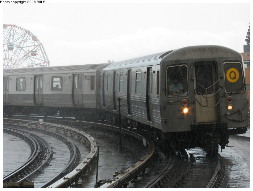 (120k, 820x620)<br><b>Country:</b> United States<br><b>City:</b> New York<br><b>System:</b> New York City Transit<br><b>Location:</b> Coney Island/Stillwell Avenue<br><b>Route:</b> Q<br><b>Car:</b> R-68A (Kawasaki, 1988-1989)  5032 <br><b>Photo by:</b> Bill E.<br><b>Date:</b> 8/8/2008<br><b>Viewed (this week/total):</b> 0 / 1679