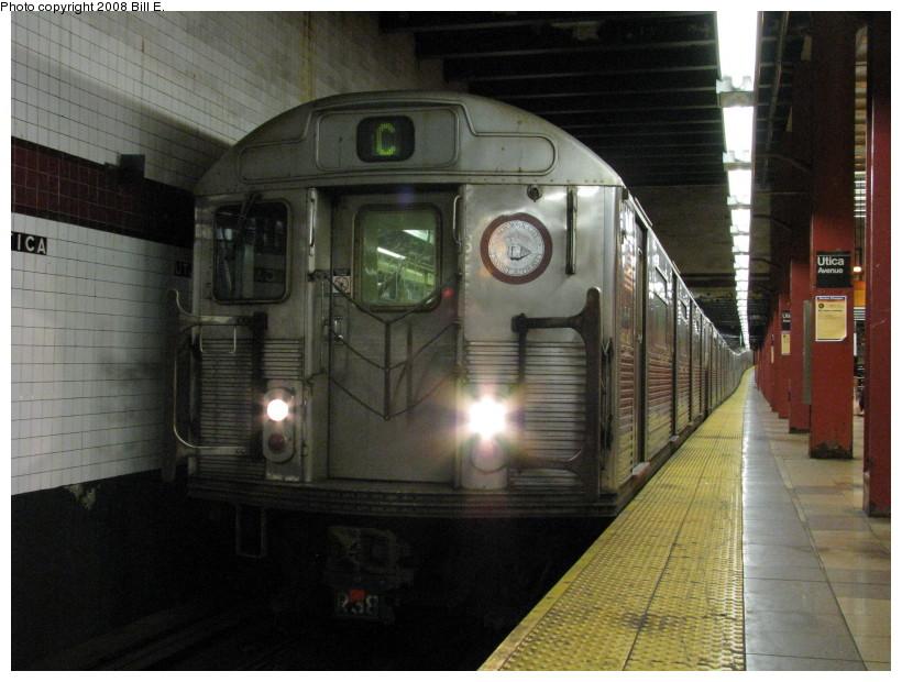 (137k, 820x620)<br><b>Country:</b> United States<br><b>City:</b> New York<br><b>System:</b> New York City Transit<br><b>Line:</b> IND Fulton Street Line<br><b>Location:</b> Utica Avenue <br><b>Route:</b> C<br><b>Car:</b> R-38 (St. Louis, 1966-1967)   <br><b>Photo by:</b> Bill E.<br><b>Date:</b> 8/8/2008<br><b>Viewed (this week/total):</b> 2 / 2097