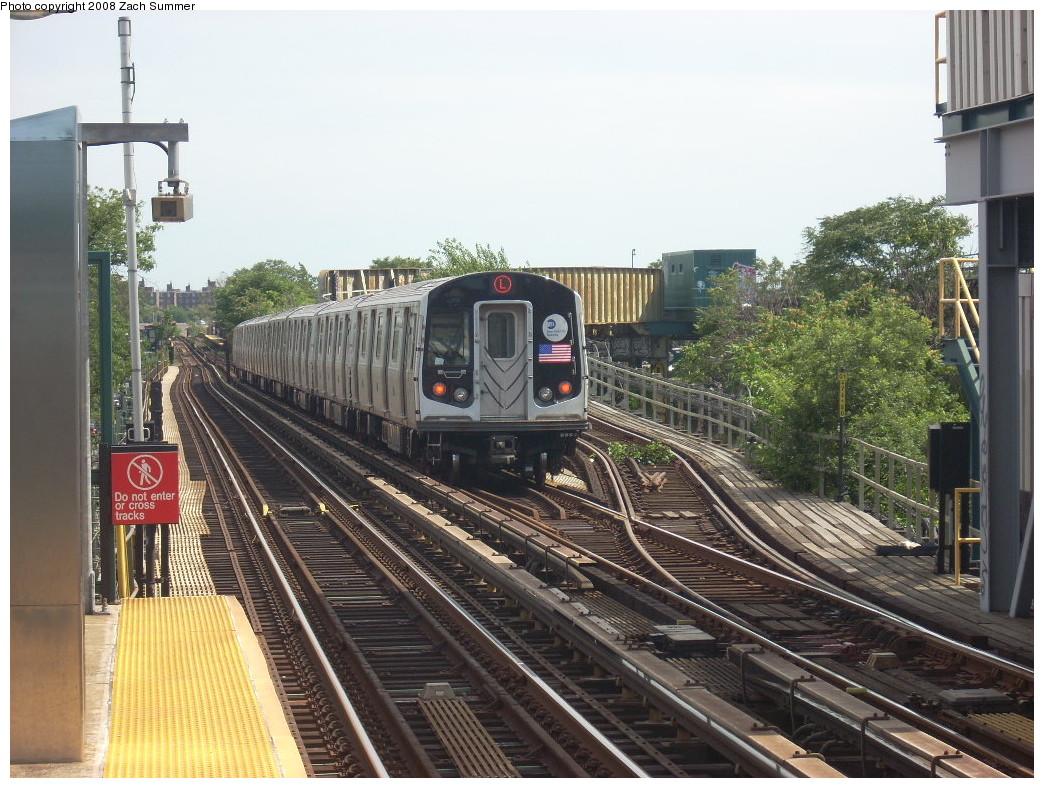 (288k, 1044x788)<br><b>Country:</b> United States<br><b>City:</b> New York<br><b>System:</b> New York City Transit<br><b>Line:</b> BMT Canarsie Line<br><b>Location:</b> Livonia Avenue <br><b>Route:</b> L<br><b>Car:</b> R-143 (Kawasaki, 2001-2002) 8133 <br><b>Photo by:</b> Zach Summer<br><b>Date:</b> 7/10/2008<br><b>Viewed (this week/total):</b> 0 / 2003
