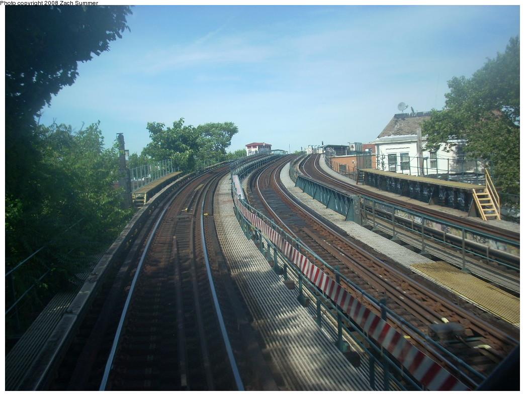 (265k, 1044x788)<br><b>Country:</b> United States<br><b>City:</b> New York<br><b>System:</b> New York City Transit<br><b>Line:</b> IND Fulton Street Line<br><b>Location:</b> 80th Street/Hudson Street <br><b>Photo by:</b> Zach Summer<br><b>Date:</b> 7/10/2008<br><b>Notes:</b> Ramp tracks from portal near 80 St.<br><b>Viewed (this week/total):</b> 0 / 1054