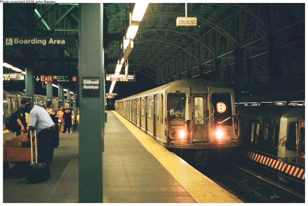 (230k, 1044x699)<br><b>Country:</b> United States<br><b>City:</b> New York<br><b>System:</b> New York City Transit<br><b>Location:</b> Coney Island/Stillwell Avenue<br><b>Route:</b> B yard move<br><b>Car:</b> R-40 (St. Louis, 1968)  4404 <br><b>Photo by:</b> John Barnes<br><b>Date:</b> 7/31/2008<br><b>Viewed (this week/total):</b> 0 / 1802