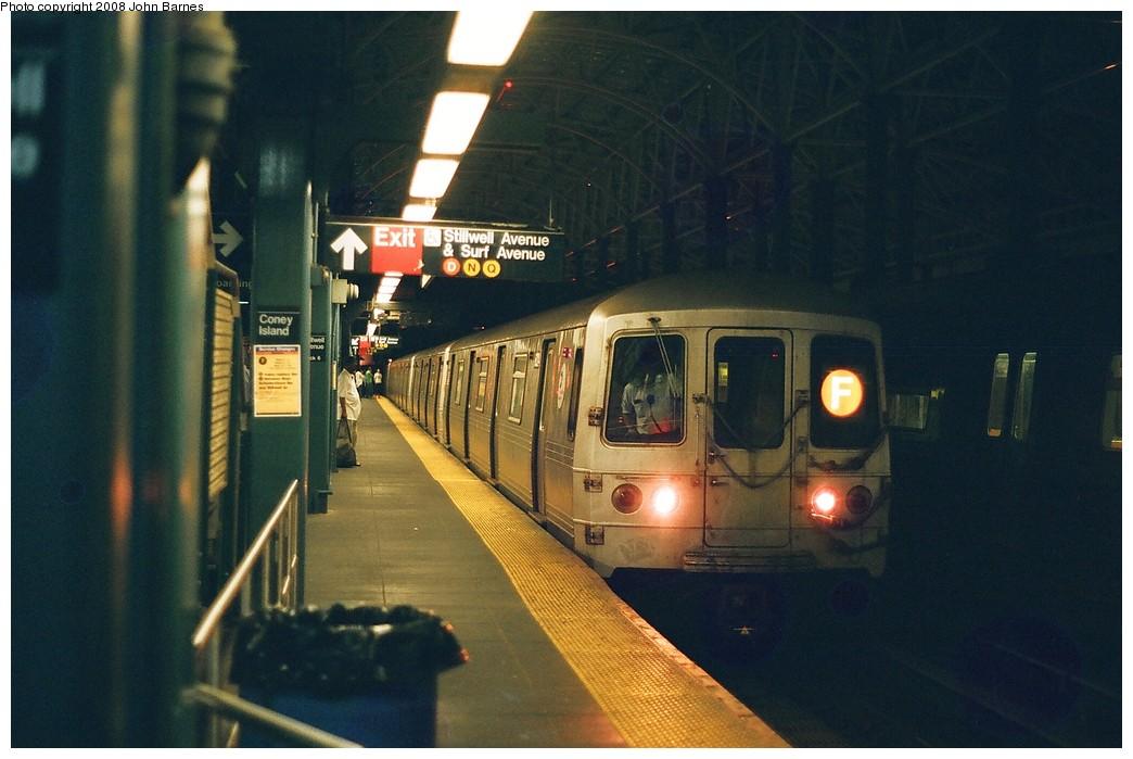 (183k, 1044x699)<br><b>Country:</b> United States<br><b>City:</b> New York<br><b>System:</b> New York City Transit<br><b>Location:</b> Coney Island/Stillwell Avenue<br><b>Route:</b> F<br><b>Car:</b> R-46 (Pullman-Standard, 1974-75) 6024 <br><b>Photo by:</b> John Barnes<br><b>Date:</b> 7/31/2008<br><b>Viewed (this week/total):</b> 2 / 1313