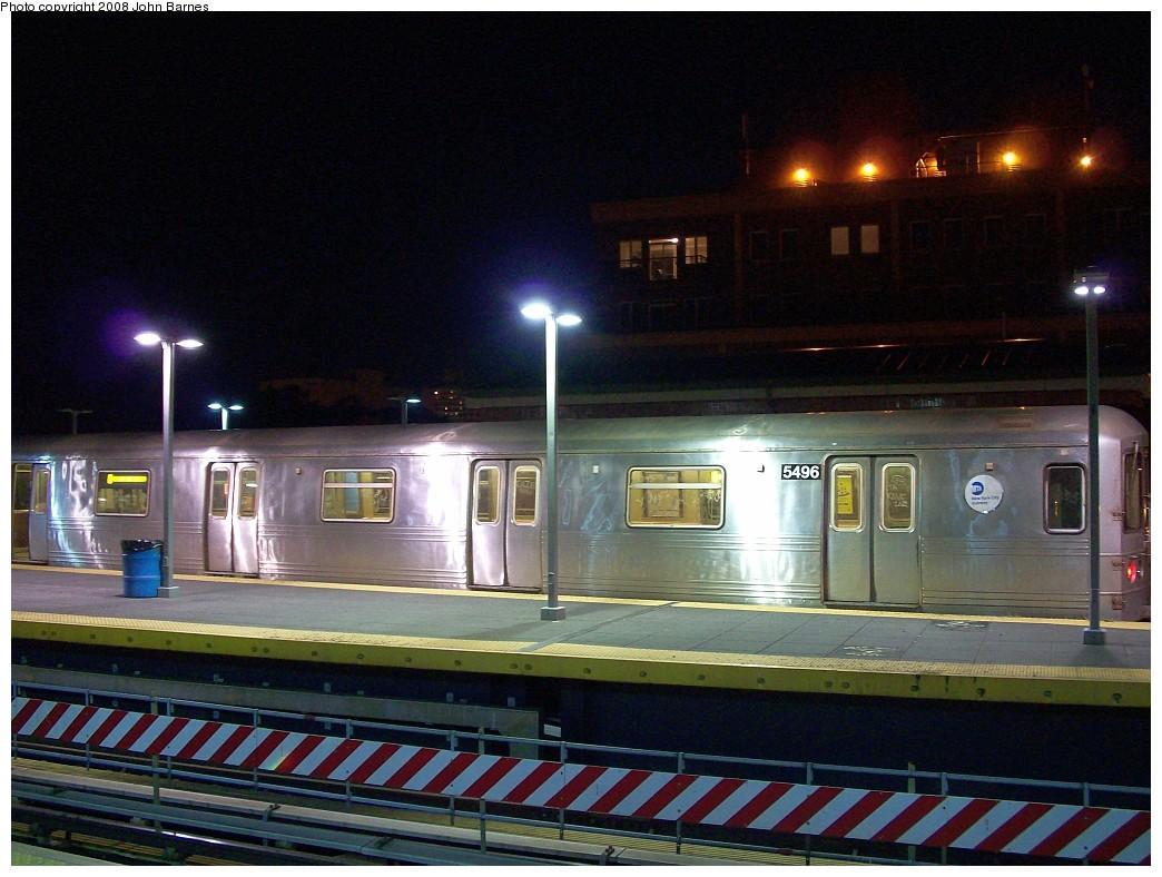 (216k, 1044x788)<br><b>Country:</b> United States<br><b>City:</b> New York<br><b>System:</b> New York City Transit<br><b>Location:</b> Coney Island/Stillwell Avenue<br><b>Route:</b> F<br><b>Car:</b> R-46 (Pullman-Standard, 1974-75) 5496 <br><b>Photo by:</b> John Barnes<br><b>Date:</b> 7/31/2008<br><b>Viewed (this week/total):</b> 0 / 1765