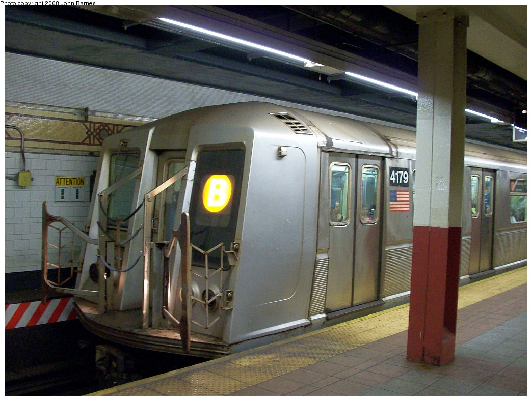 (231k, 1044x788)<br><b>Country:</b> United States<br><b>City:</b> New York<br><b>System:</b> New York City Transit<br><b>Location:</b> DeKalb Avenue<br><b>Route:</b> B<br><b>Car:</b> R-40 (St. Louis, 1968)  4179 <br><b>Photo by:</b> John Barnes<br><b>Date:</b> 7/31/2008<br><b>Viewed (this week/total):</b> 2 / 2240