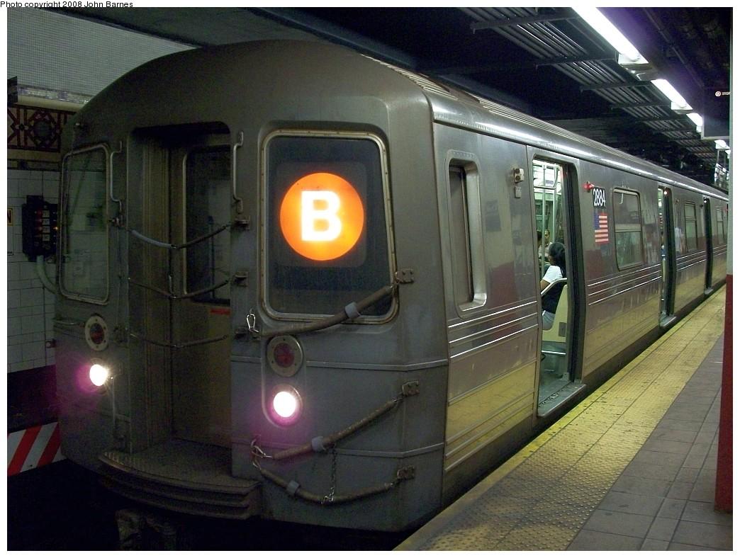(231k, 1044x788)<br><b>Country:</b> United States<br><b>City:</b> New York<br><b>System:</b> New York City Transit<br><b>Location:</b> DeKalb Avenue<br><b>Route:</b> B<br><b>Car:</b> R-68 (Westinghouse-Amrail, 1986-1988)  2884 <br><b>Photo by:</b> John Barnes<br><b>Date:</b> 7/31/2008<br><b>Viewed (this week/total):</b> 2 / 2364