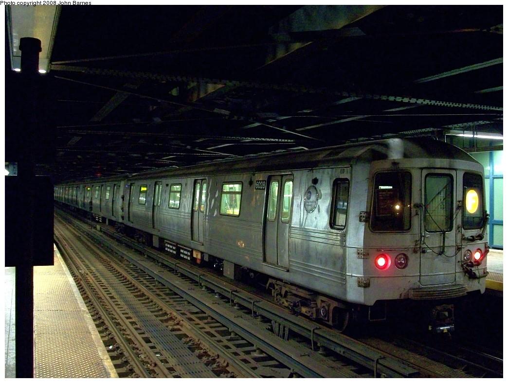 (234k, 1044x788)<br><b>Country:</b> United States<br><b>City:</b> New York<br><b>System:</b> New York City Transit<br><b>Line:</b> BMT Culver Line<br><b>Location:</b> West 8th Street <br><b>Route:</b> F<br><b>Car:</b> R-46 (Pullman-Standard, 1974-75) 6028 <br><b>Photo by:</b> John Barnes<br><b>Date:</b> 7/31/2008<br><b>Viewed (this week/total):</b> 0 / 1595