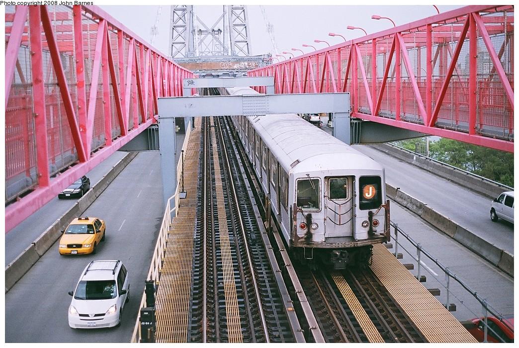 (324k, 1044x699)<br><b>Country:</b> United States<br><b>City:</b> New York<br><b>System:</b> New York City Transit<br><b>Line:</b> BMT Nassau Street/Jamaica Line<br><b>Location:</b> Williamsburg Bridge<br><b>Route:</b> J<br><b>Car:</b> R-42 (St. Louis, 1969-1970)   <br><b>Photo by:</b> John Barnes<br><b>Date:</b> 7/27/2008<br><b>Viewed (this week/total):</b> 0 / 1910
