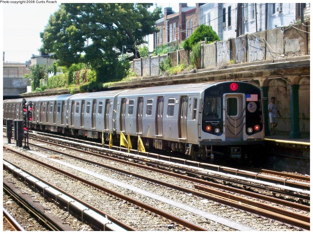 (418k, 1044x783)<br><b>Country:</b> United States<br><b>City:</b> New York<br><b>System:</b> New York City Transit<br><b>Line:</b> BMT Sea Beach Line<br><b>Location:</b> Kings Highway <br><b>Route:</b> N<br><b>Car:</b> R-160A-2 (Alstom, 2005-2008, 5 car sets)  8657 <br><b>Photo by:</b> Curtis Roach<br><b>Date:</b> 7/13/2008<br><b>Viewed (this week/total):</b> 1 / 1954