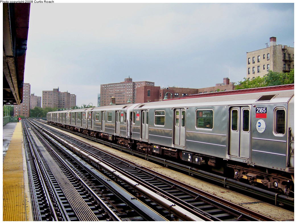(341k, 1044x789)<br><b>Country:</b> United States<br><b>City:</b> New York<br><b>System:</b> New York City Transit<br><b>Line:</b> IRT West Side Line<br><b>Location:</b> 231st Street <br><b>Route:</b> 1<br><b>Car:</b> R-62A (Bombardier, 1984-1987)  2165 <br><b>Photo by:</b> Curtis Roach<br><b>Date:</b> 8/2/2008<br><b>Viewed (this week/total):</b> 0 / 1585