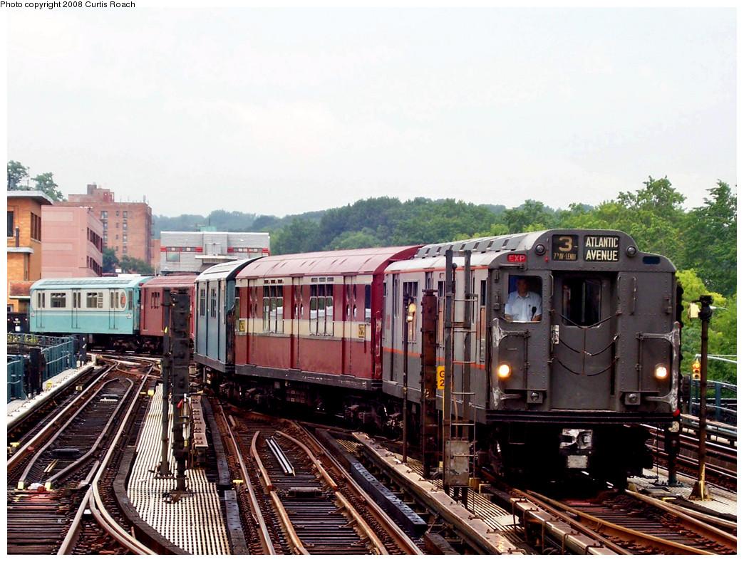 (321k, 1044x789)<br><b>Country:</b> United States<br><b>City:</b> New York<br><b>System:</b> New York City Transit<br><b>Line:</b> IRT West Side Line<br><b>Location:</b> 238th Street <br><b>Route:</b> Transit Museum Nostalgia Train<br><b>Car:</b> R-12 (American Car & Foundry, 1948) 5760 <br><b>Photo by:</b> Curtis Roach<br><b>Date:</b> 8/2/2008<br><b>Viewed (this week/total):</b> 2 / 2237