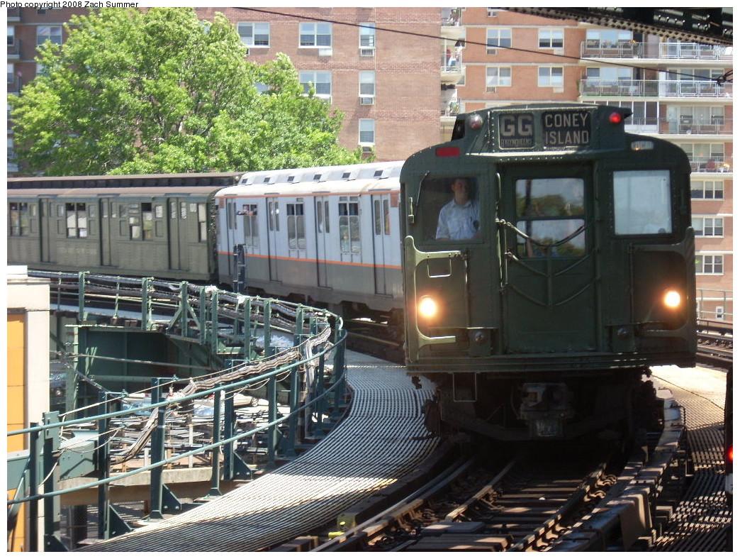 (334k, 1044x788)<br><b>Country:</b> United States<br><b>City:</b> New York<br><b>System:</b> New York City Transit<br><b>Line:</b> BMT Culver Line<br><b>Location:</b> West 8th Street <br><b>Route:</b> Transit Museum Nostalgia Train<br><b>Car:</b> R-9 (Pressed Steel, 1940)  1802 <br><b>Photo by:</b> Zach Summer<br><b>Date:</b> 7/13/2008<br><b>Notes:</b> R9 1802 masqueading as 1689.<br><b>Viewed (this week/total):</b> 2 / 2149