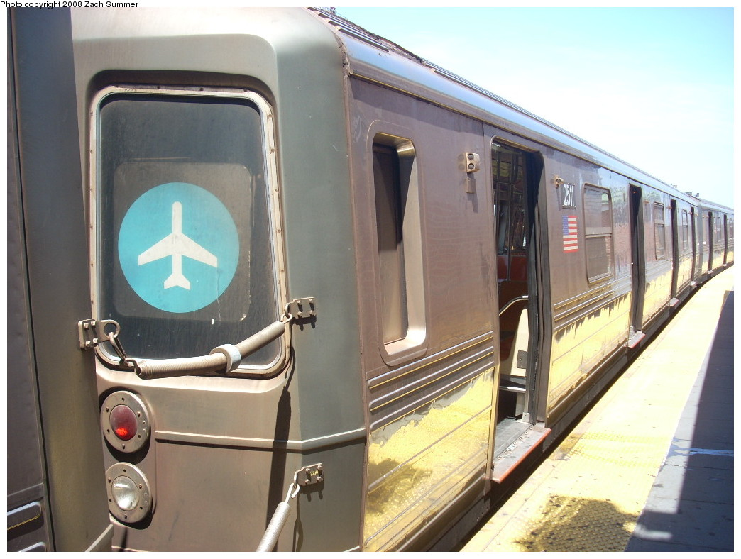 (235k, 1044x788)<br><b>Country:</b> United States<br><b>City:</b> New York<br><b>System:</b> New York City Transit<br><b>Location:</b> Coney Island/Stillwell Avenue<br><b>Route:</b> D<br><b>Car:</b> R-68 (Westinghouse-Amrail, 1986-1988)  2511 <br><b>Photo by:</b> Zach Summer<br><b>Date:</b> 7/13/2008<br><b>Notes:</b> With JFK rollsign.<br><b>Viewed (this week/total):</b> 0 / 2016