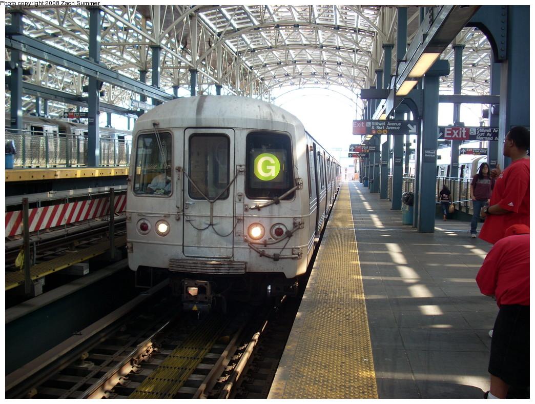 (310k, 1044x788)<br><b>Country:</b> United States<br><b>City:</b> New York<br><b>System:</b> New York City Transit<br><b>Location:</b> Coney Island/Stillwell Avenue<br><b>Route:</b> G<br><b>Car:</b> R-46 (Pullman-Standard, 1974-75) 6204 <br><b>Photo by:</b> Zach Summer<br><b>Date:</b> 7/13/2008<br><b>Viewed (this week/total):</b> 0 / 1530