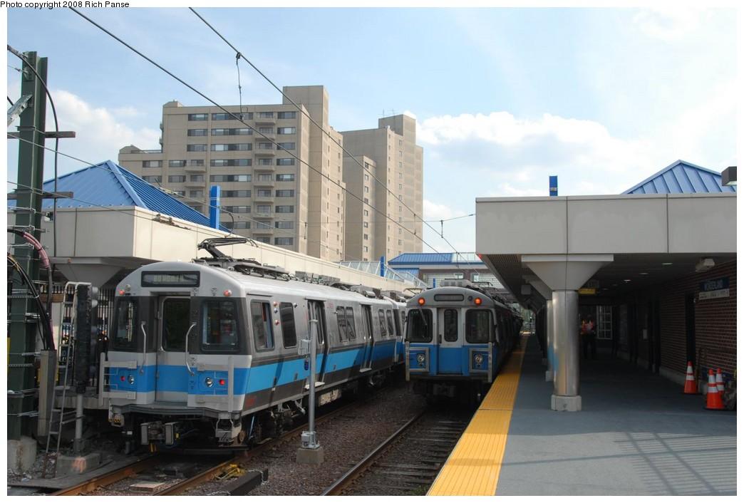 (187k, 1044x706)<br><b>Country:</b> United States<br><b>City:</b> Boston, MA<br><b>System:</b> MBTA<br><b>Line:</b> MBTA Blue Line<br><b>Location:</b> Wonderland<br><b>Car:</b> MBTA Siemens #5HR 0700 Series(Siemens, 2006) 0727 <br><b>Photo by:</b> Richard Panse<br><b>Date:</b> 7/18/2008<br><b>Notes:</b> With 0639<br><b>Viewed (this week/total):</b> 1 / 1192