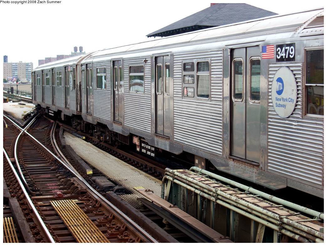 (349k, 1044x788)<br><b>Country:</b> United States<br><b>City:</b> New York<br><b>System:</b> New York City Transit<br><b>Line:</b> BMT Culver Line<br><b>Location:</b> Avenue X <br><b>Route:</b> F put-in<br><b>Car:</b> R-32 (Budd, 1964)  3479 <br><b>Photo by:</b> Zach Summer<br><b>Date:</b> 7/14/2008<br><b>Viewed (this week/total):</b> 2 / 1253