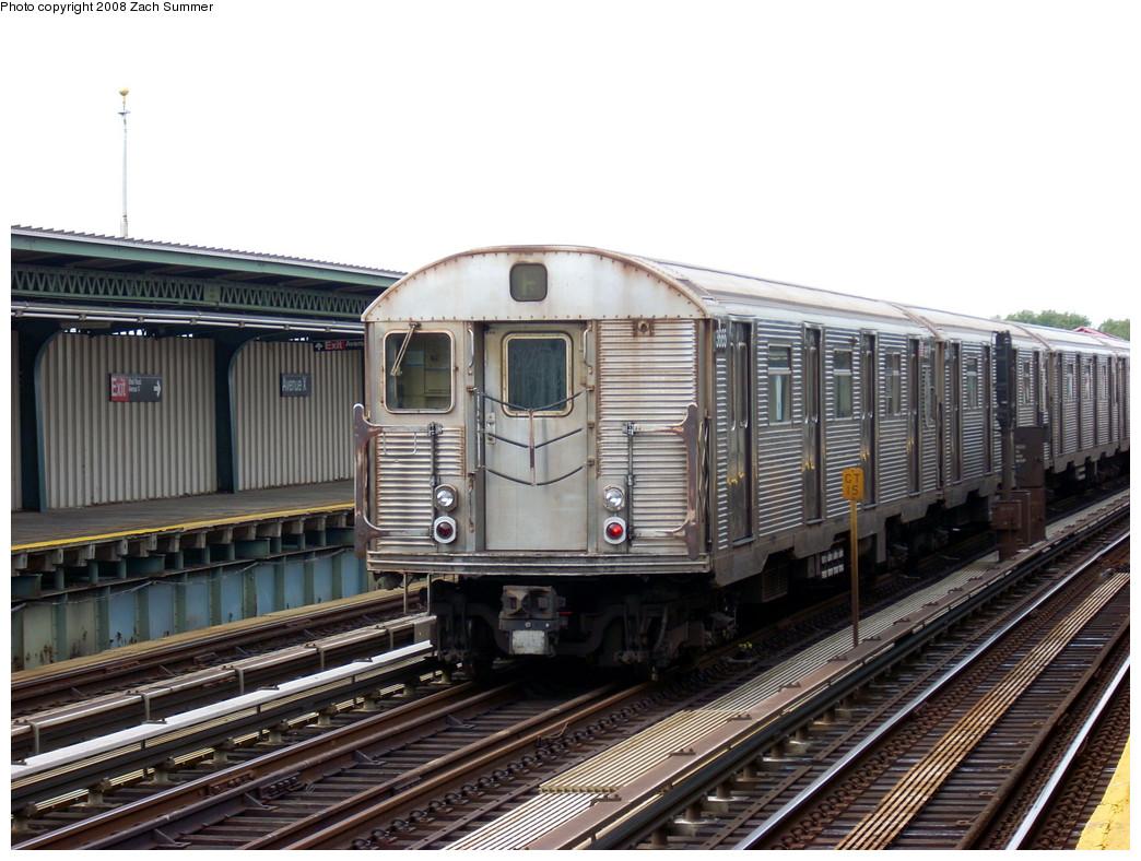 (266k, 1044x788)<br><b>Country:</b> United States<br><b>City:</b> New York<br><b>System:</b> New York City Transit<br><b>Line:</b> BMT Culver Line<br><b>Location:</b> Avenue X <br><b>Route:</b> F put-in<br><b>Car:</b> R-32 (Budd, 1964)  3665 <br><b>Photo by:</b> Zach Summer<br><b>Date:</b> 7/14/2008<br><b>Viewed (this week/total):</b> 5 / 1309