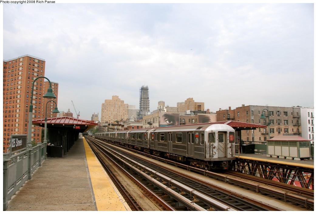 (170k, 1044x706)<br><b>Country:</b> United States<br><b>City:</b> New York<br><b>System:</b> New York City Transit<br><b>Line:</b> IRT West Side Line<br><b>Location:</b> 125th Street <br><b>Route:</b> 1<br><b>Car:</b> R-62A (Bombardier, 1984-1987)  2355 <br><b>Photo by:</b> Richard Panse<br><b>Date:</b> 8/2/2008<br><b>Viewed (this week/total):</b> 0 / 1483