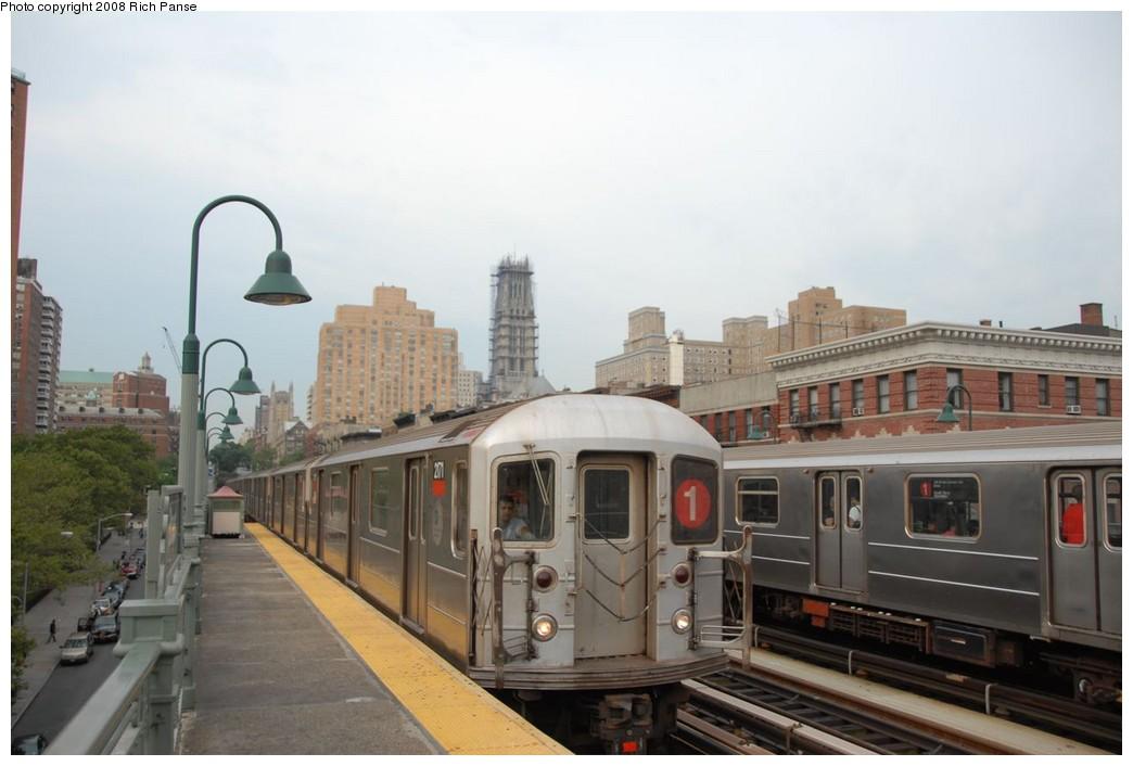 (169k, 1044x706)<br><b>Country:</b> United States<br><b>City:</b> New York<br><b>System:</b> New York City Transit<br><b>Line:</b> IRT West Side Line<br><b>Location:</b> 125th Street <br><b>Route:</b> 1<br><b>Car:</b> R-62A (Bombardier, 1984-1987)  2171 <br><b>Photo by:</b> Richard Panse<br><b>Date:</b> 8/2/2008<br><b>Viewed (this week/total):</b> 0 / 1529