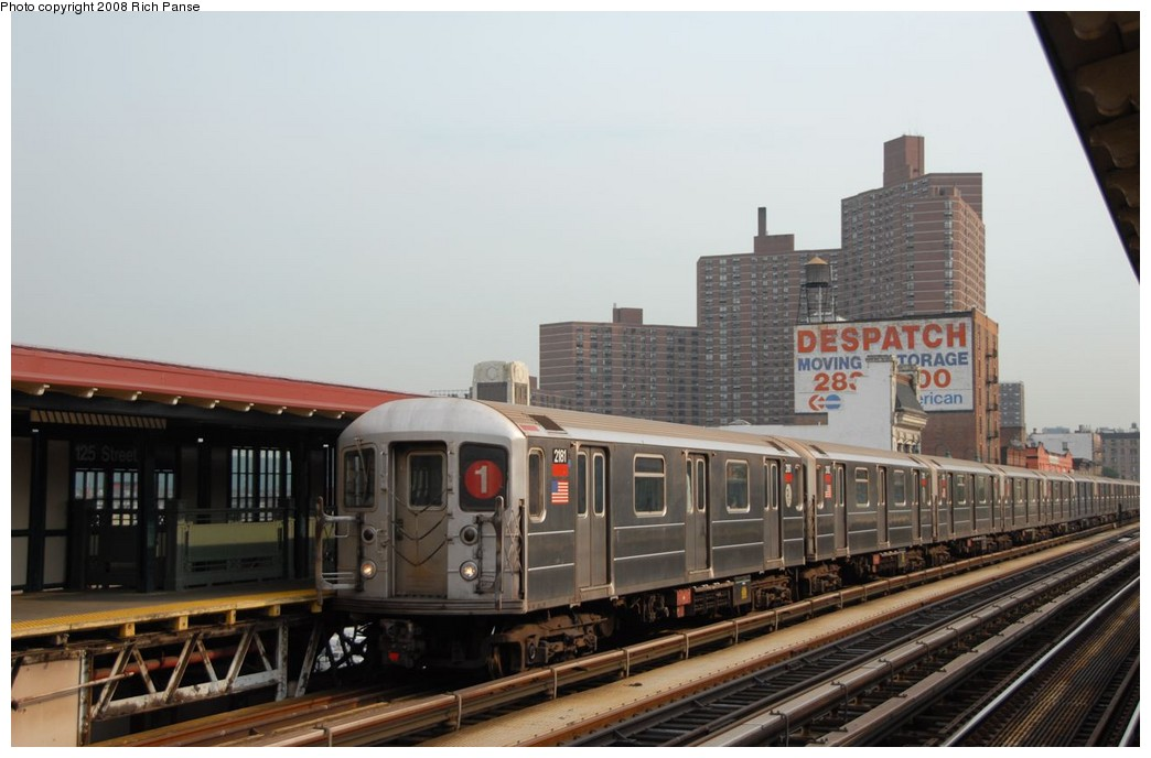 (147k, 1044x688)<br><b>Country:</b> United States<br><b>City:</b> New York<br><b>System:</b> New York City Transit<br><b>Line:</b> IRT West Side Line<br><b>Location:</b> 125th Street <br><b>Route:</b> 1<br><b>Car:</b> R-62A (Bombardier, 1984-1987)  2181 <br><b>Photo by:</b> Richard Panse<br><b>Date:</b> 8/2/2008<br><b>Viewed (this week/total):</b> 1 / 1270