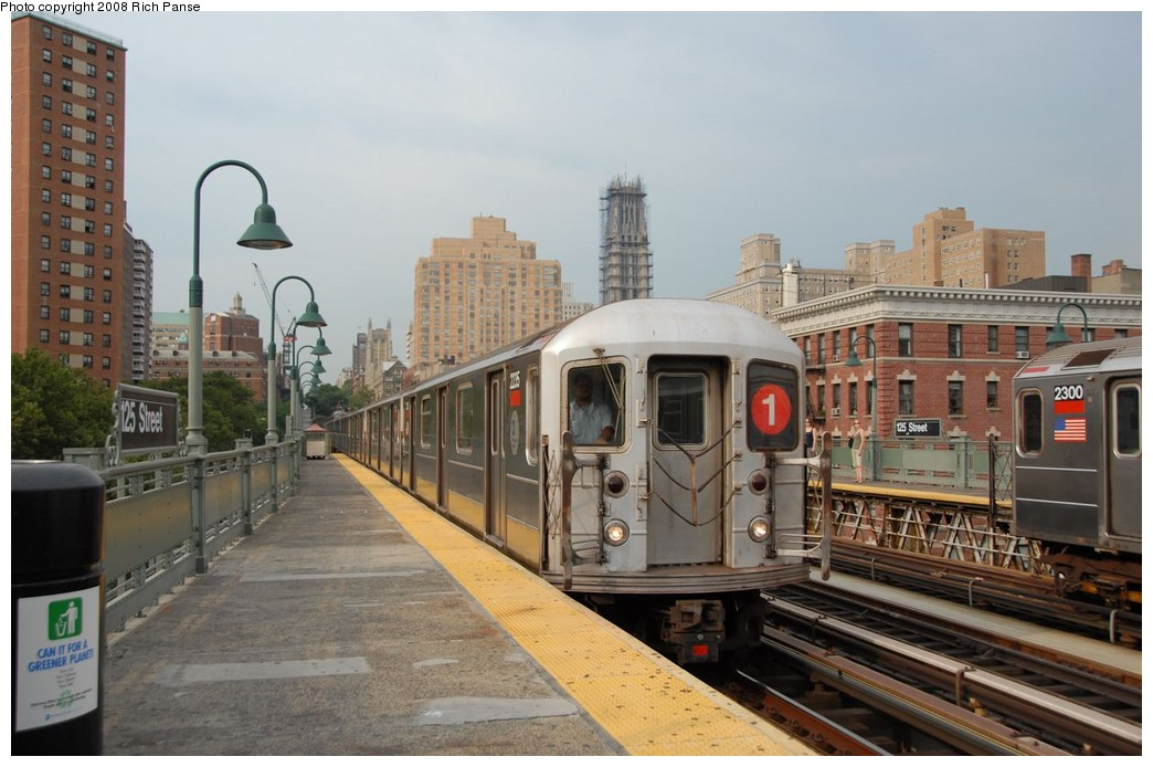 (174k, 1044x694)<br><b>Country:</b> United States<br><b>City:</b> New York<br><b>System:</b> New York City Transit<br><b>Line:</b> IRT West Side Line<br><b>Location:</b> 125th Street <br><b>Route:</b> 1<br><b>Car:</b> R-62A (Bombardier, 1984-1987)  2235 <br><b>Photo by:</b> Richard Panse<br><b>Date:</b> 8/2/2008<br><b>Viewed (this week/total):</b> 1 / 1282